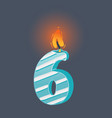 birthday candle on dark vector image vector image
