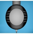 Black headphones side view vector image