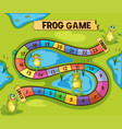 boardgame template with frogs in pond vector image vector image