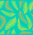 bright flower seamless pattern with fern vector image vector image