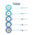 business circle infographic templatecan be used vector image vector image