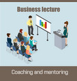 business lecture coaching and mentoring concept vector image vector image