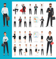 business man and business woman office vector image vector image
