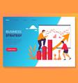 business strategy marketing work development plan vector image