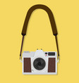 camera hanging flat style vintage vector image vector image