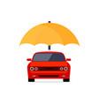 car insurance logo concept protect icon vector image vector image