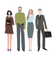 cartoon color characters people office workers vector image vector image