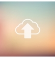 Cloud upload in flat style icon vector image