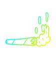 cold gradient line drawing marijuana joint vector image vector image
