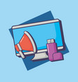 computer and megaphone desing vector image