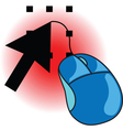 Computer mouse and arrow vector image