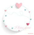 Cute note paper with hearts vector image vector image