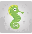 Cute sea horse cartoon vector image