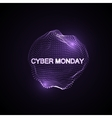 Cyber Monday Promotional Poster vector image vector image