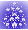 Decorative tree with orchid flowers vector image