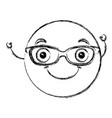 emoticon with glasses character vector image vector image