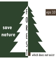 Environment protection deforestation vector image vector image