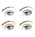 Eyes pattern set vector image vector image