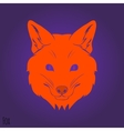 Face Red fox silhouette
