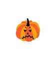 flat halloween pumpkin vector image vector image