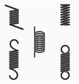 flexible metal wire spiral springs icons set vector image vector image