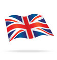flowing united kingdom union jack flag vector image vector image