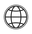global sphere symbol vector image vector image