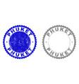 grunge phuket scratched stamps vector image vector image