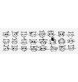 hand drawn cats emotions and facial expressions vector image