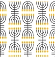 Hanukkah seamless pattern vector image vector image