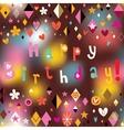 Happy Birthday card 14 vector image vector image