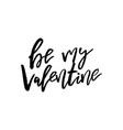 happy valentines day card with calligraphy text vector image