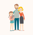 happy young family mother father their daughter vector image vector image