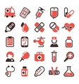Health medical icons vector image vector image