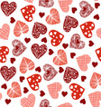 hearts cheerful pattern with hearts vector image vector image