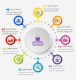 infographic template with supply chain icons vector image vector image