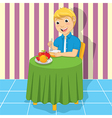 Little Boy Eating Meal vector image vector image