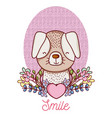 lovely dog cartoon vector image