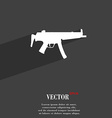 machine gun icon symbol Flat modern web design vector image