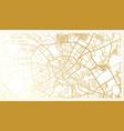 minsk belarus city map in retro style in golden