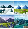 Mountain Landscapes Set vector image