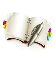 Notebook with pen vector image vector image