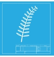 Olive twig sign White section of icon on vector image vector image