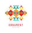 ornament logo design colorful ethnic ornate vector image vector image