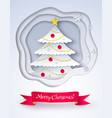 paper cut style christmas vector image vector image