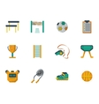 Physical culture flat color icons set vector image vector image