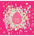 Postcard happy Easter egg vector image
