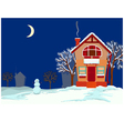 Quiet evening in the winter vector image vector image