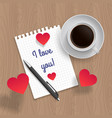 quote i love you vector image vector image