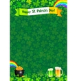 Saint Patricks day poster template vector image vector image